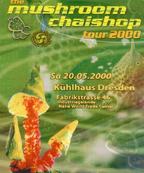 Flyer the mushroom chaishop tour 2000