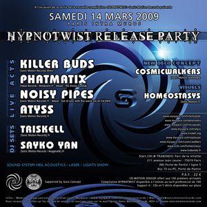 Flyer hypnotwist release party
