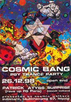 Flyer cosmic bang 1998/12